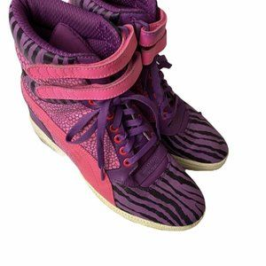Puma Sky Hi Top Contact Pink Purple Zebra Sneaker